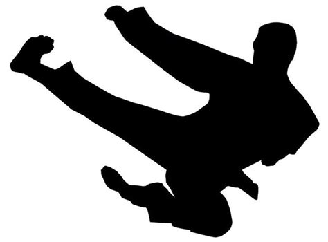 ninja kick silhouette google search air brush