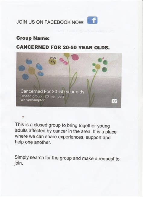 Support Groups   Wolverhampton Patient Advisory Cancer ...