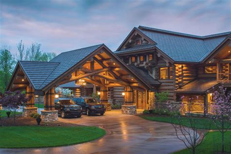 cabin style home discover lodge log home designs from pioneer log