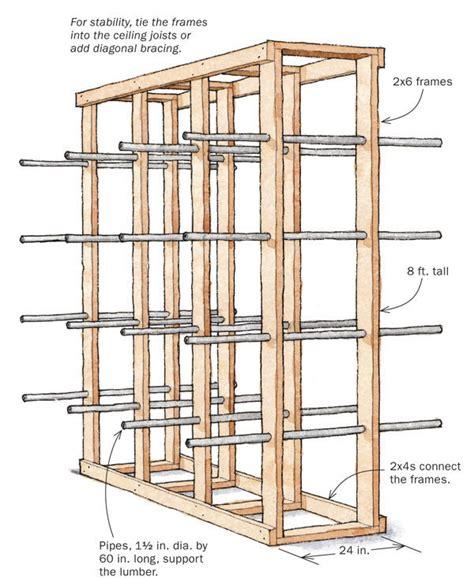 sturdy simple lumber rack finewoodworking