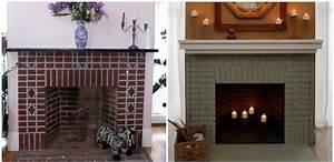 Cheminée En Brique : repeindre une chemin e en marbre en brique clem around the corner ~ Farleysfitness.com Idées de Décoration