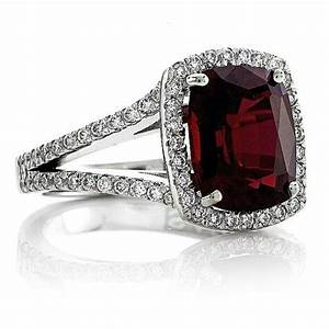 14kt white gold halo 10x8 pigeon blood ruby cushion cut 2 With blood diamond wedding rings