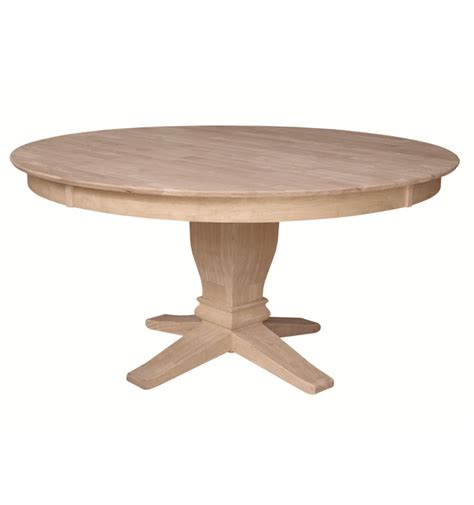60 inch pedestal dining table 60 inch solid dining table bare wood wood