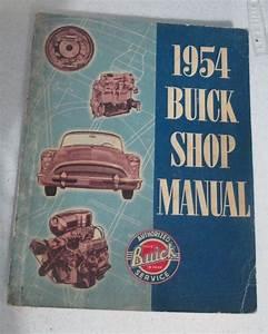 1954 Buick Service Shop Repair Manual Book Engine