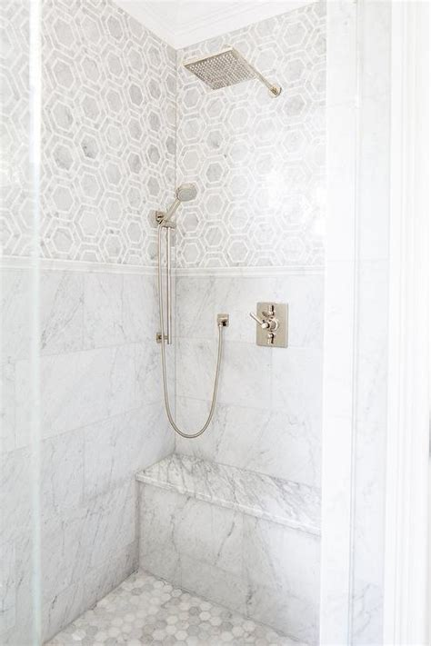 is marble tile for bathroom grey marble shower bench design ideas