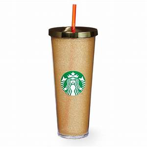 Glitter Cold Cup - Gold, 24 fl oz | Starbucks® Store
