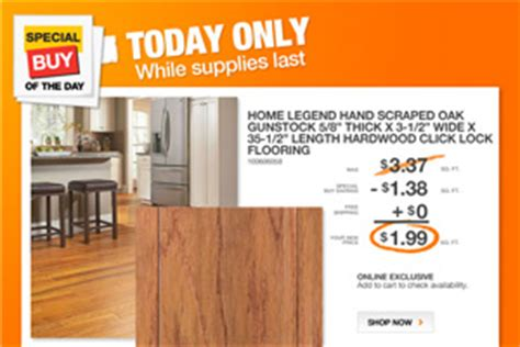 home depot flooring sale home depot only hardwood flooring 1 99 sq ft monday only