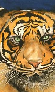 Tiger eyes staring - painting | A68 This is my latest ...