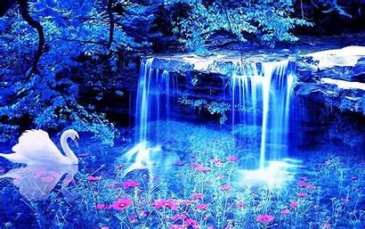 Waterfall Wallpapers Flowers Wallpaperup Swan Wallpapersafari