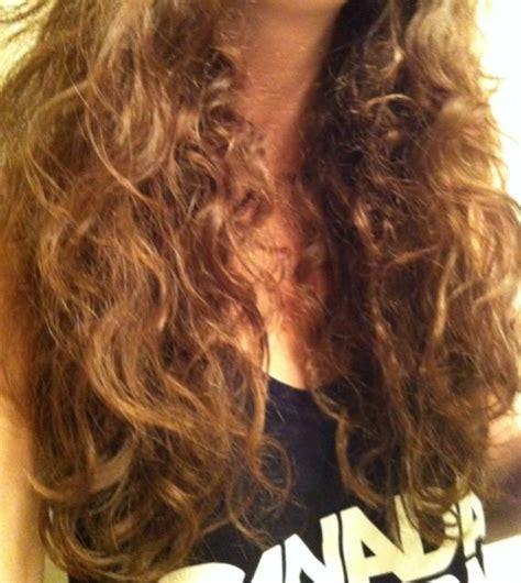 help hair half straight half curly and messy curltalk