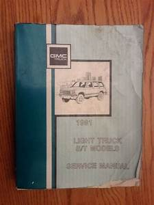 1991 Gmc And Chevrolet S  T Truck Service Manual