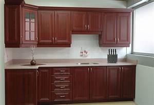 exemple modele armoire de cuisine en bois With modele placard de cuisine en bois