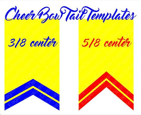 cheer bow tails svg dxf eps cut file  cameo