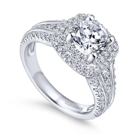Gabriel & Co  Henrietta Collection Double Halo Diamond