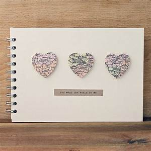 personalised small hearts wedding album by posh totty With small wedding photo album