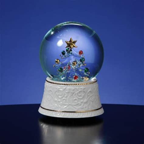 san francisco music box glass lighted tree water globe