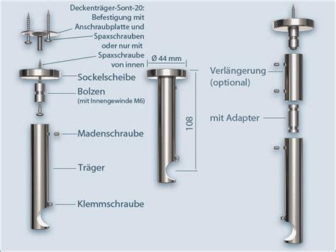 Hängesessel Befestigung Decke by Vorhangstange Sont 20 F 252 R Deckenbefestigung Einl 228 Ufig