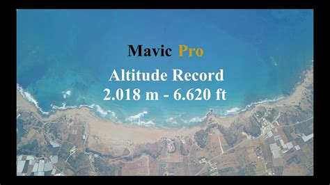 dji mavic pro record altitude     ft
