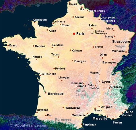 maps  france