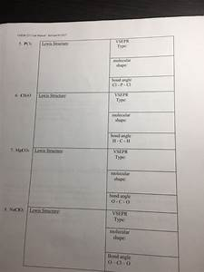 Solved  Chem 1211 Lab Manual 2017 5  Pc Lewis S