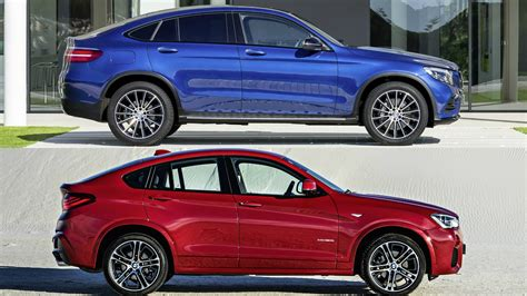 2017 Mercedes Glc Coupe Vs Bmw X4 Youtube