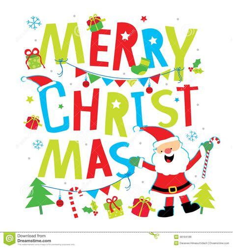 merry christmas cartoon vector stock vector illustration