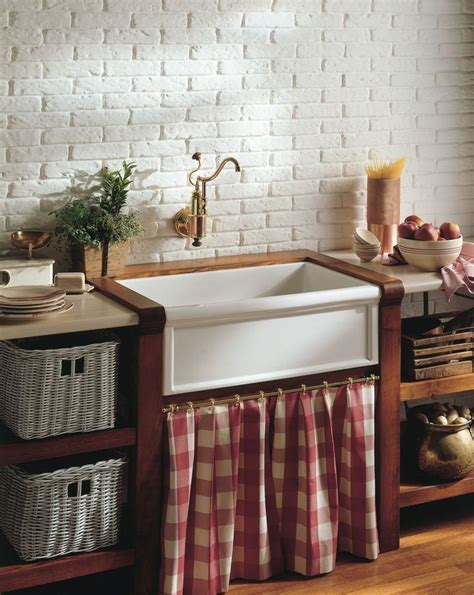 French Country Charm  4603 Fireclay farmhouse sink & De