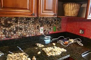 Garden Stone Kitchen Backsplash Tutorial {how to