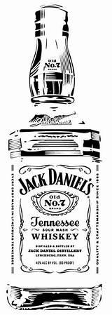 Jack Daniels Pyrography Bottle Whiskey Silhouette Stencil Stencils Tattoo Daniel Clip Garrafa Cricut Vinyl Cameo Label Clipart Patterns Drawings Templates sketch template