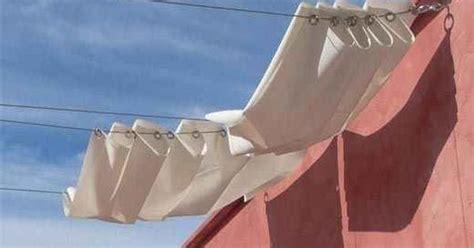 Use An Ikea Curtain System As An Impromptu Shade During