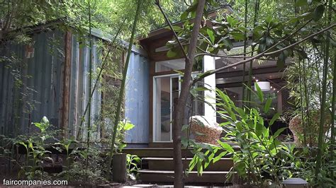 salvaged shipping container cabin  savannah
