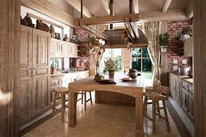 Como decorar cocinas rusticas for Kitchen colors with white cabinets with wagon wheel wall art