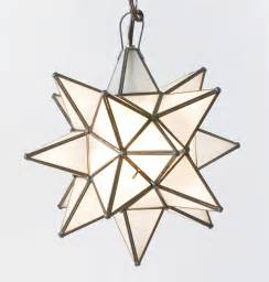 Moravian Star Light by Moravian Star Pendant Chandelier Small Frosted Glass By