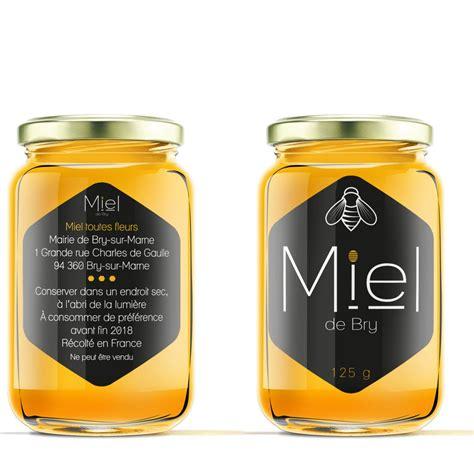 etiquette de pot de miel ikono