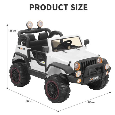 power wheels jeep white white 12v kids ride on cars electric battery power wheels