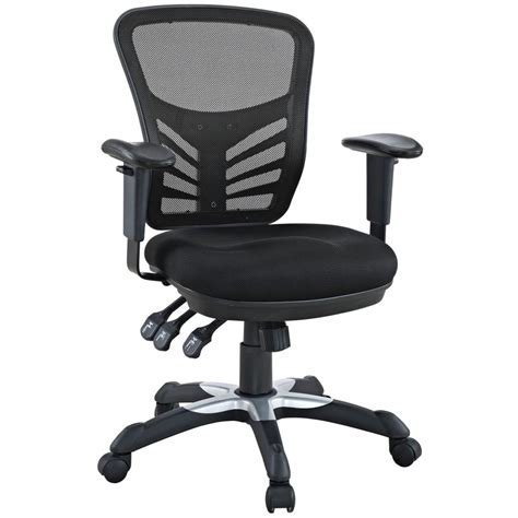 desk chair with wheels amazon com lexmod articulate black mesh office chair