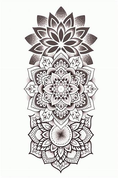 Tattoo Mandala Tattoos Indian Geometric Massage Kaynak