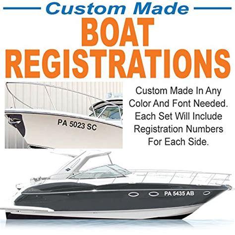 Custom Vinyl Boat Registration Numbers by Compare Price To Custom Boat Registration Decals