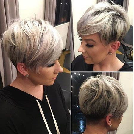 cute and trendy short stacked hairstyle for women with