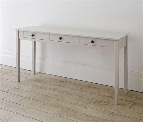narrow desk with drawers narrow console table with drawers great tables