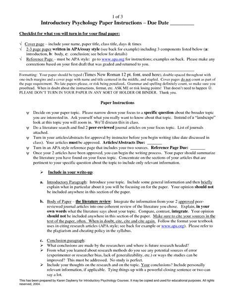 Sample APA Research Paper Examples
