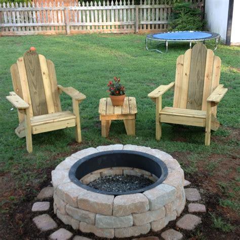 adirondack chairs table and pit adirondack
