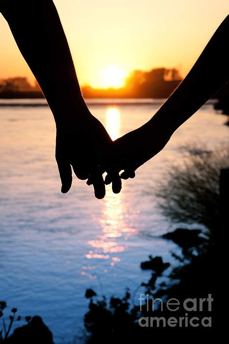 holding hands silhouette greeting card  sale  cindy