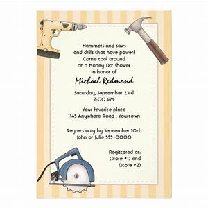 handyman tool shower invitation power tools flats and With man wedding shower invitations