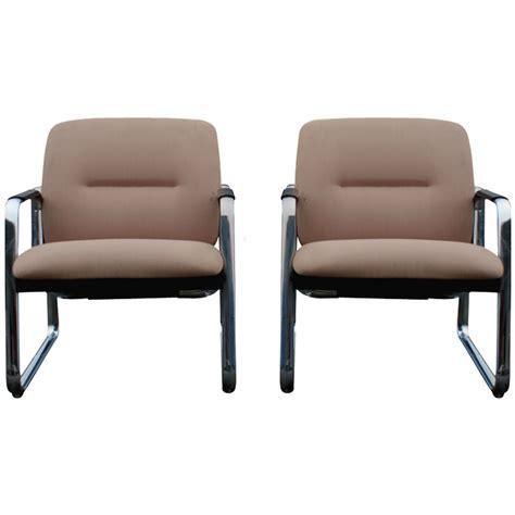 2 mid century steelcase lounge chairs ebay