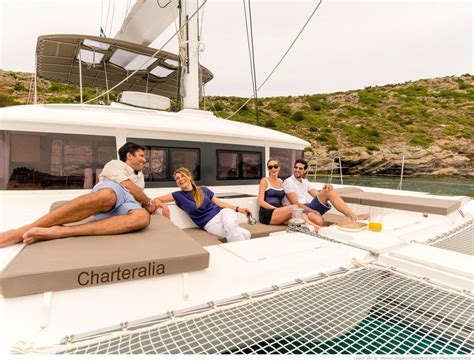 Catamaran With Net by Luxury Lagoon 560 Mega Catamaran Ibiza Yacht Charter Ibiza
