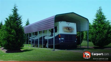 Rv Carport 12' X 41' With Regular Roof  Shop Metal