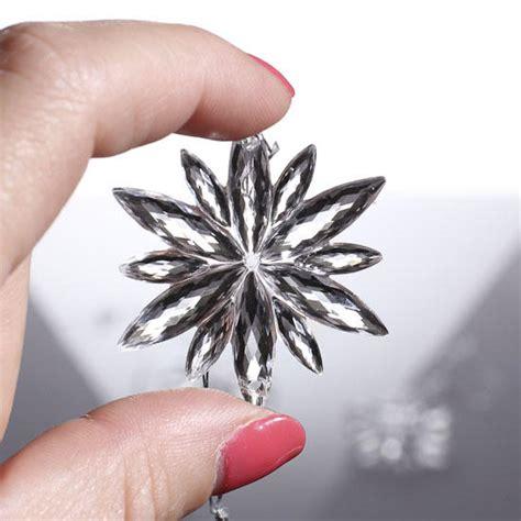miniature acrylic snowflake ornaments christmas