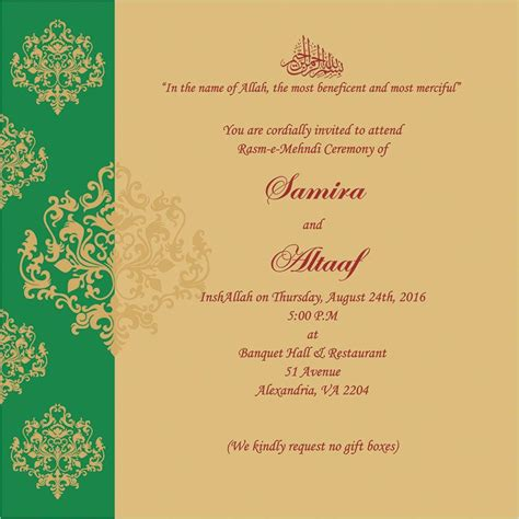 wedding invitation wording  mehndi ceremony mehndi