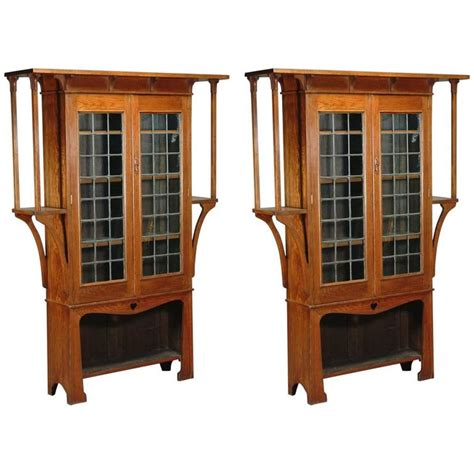 Craft Bookcase by Near Pair Of Oak Arts And Crafts Bookcases By Liberty And